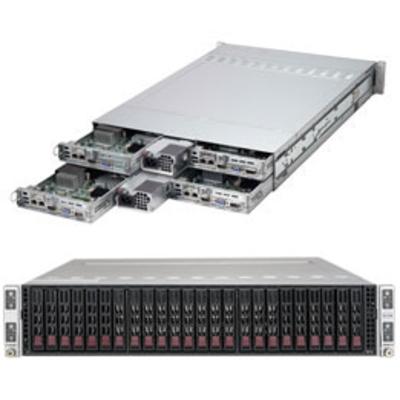 Supermicro SuperServer 2028TR-H72R Server barebone - Zwart