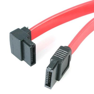 StarTech.com 15cm Haakse SATA naar Snaar Links ATA kabel - Rood
