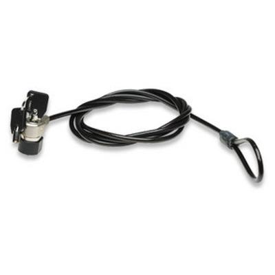Manhattan Mobile Security Laptop Lock, Key Lock, 1.8m, Black PVC Jacket Kabelslot - Zwart
