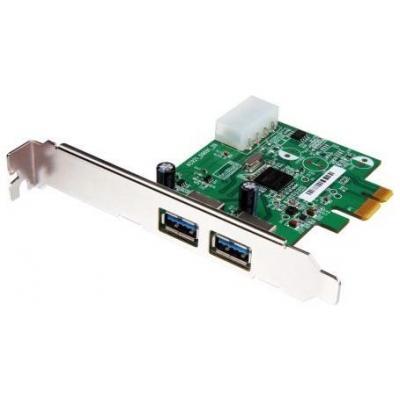 Transcend interfaceadapter: 2-Port USB 3.0 PCI-E Card - Groen