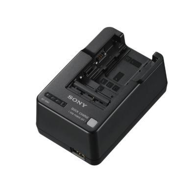 Sony oplader: Batterijlader met USB-aansluiting/netvoeding en micro-USB-kabel - Zwart