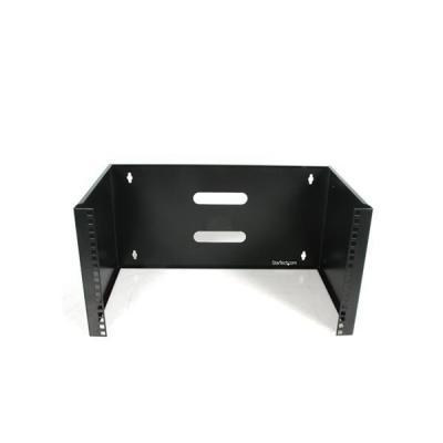 Startech.com montagehaak: 6U 30cm diep Serverrack Wandmontage Beugel voor Patchpanelen - Zwart