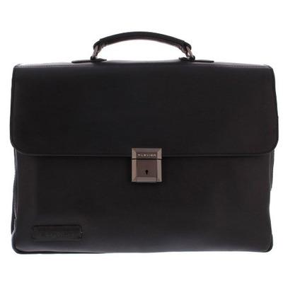 "Plevier Morse Leren Aktetas 39.624 cm (15.6"") Zwart Laptoptas"