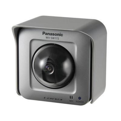 Panasonic WV-SW172, IP55, H.264/JPEG, (PoE) IEEE 802.3af, F2.2 Beveiligingscamera - Zilver