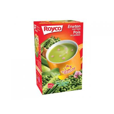 Royco voedingswaar: Minute soup Erwt Ham/ds 25 zakjes