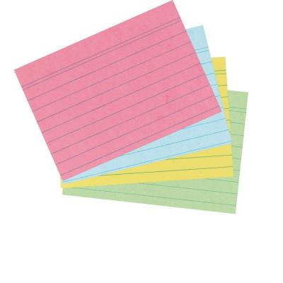 Herlitz Index card A6 ruled assorted colours 200 pieces Indexkaart - Blauw, Groen, Rood, Geel