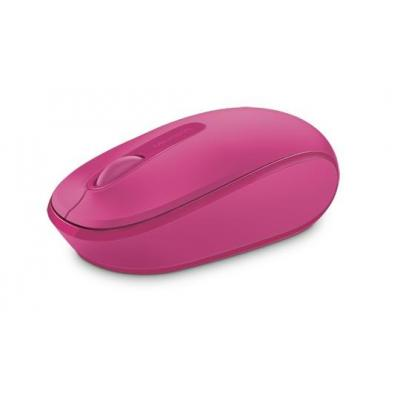 Microsoft computermuis: Wireless Mouse 1850 EFR Magenta Pink - Roze