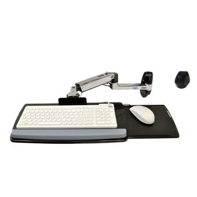 Ergotron LX Wall Mount Keyboard Arm Houder - Zilver