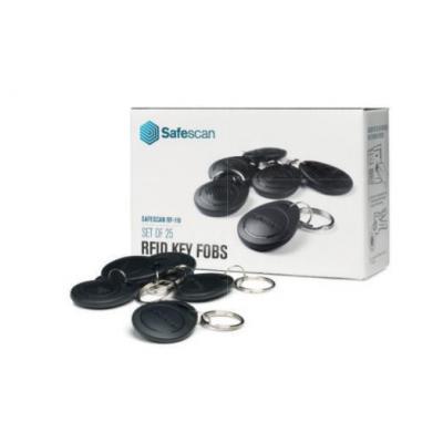 Safescan : 25 RFID key fobs, f / RF-110 - Zwart