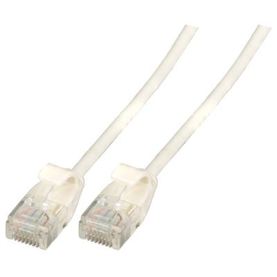 EFB Elektronik RJ-45, Male - Male, 10 Gbit, 500 MHz, U/UTP, Cat6a, TPE, 5 m Netwerkkabel - Wit