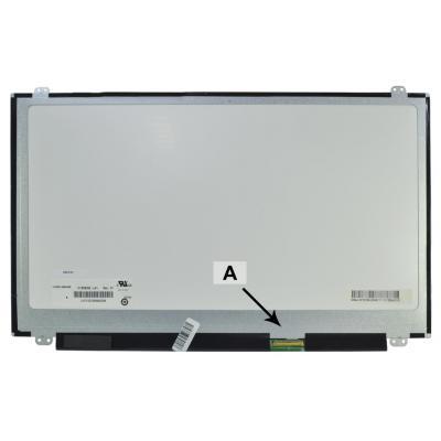 2-power notebook reserve-onderdeel: 15.6 WXGA HD 1366x768 LED Glossy - Zilver