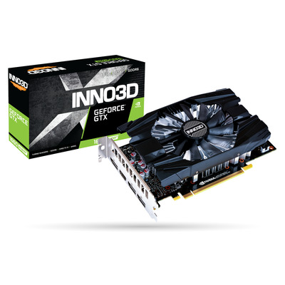 Inno3D GeForce GTX 1660 SUPER Compact, 6 GB GDDR6, 192-bit, 336 GB/s, 14 Gbps, PCI-E 3.0 x16, HDCP 2.2, HDMI .....
