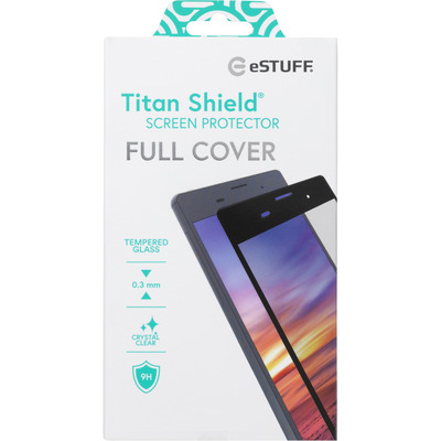 ESTUFF Titan Shield® Full Cover for Xiaomi Redmi Note 8 Screen protector - Zwart,Transparant