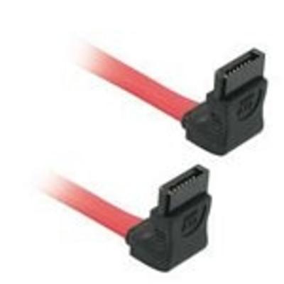 C2g ATA kabel: 0.5m 7-pin SATA Cable - Rood