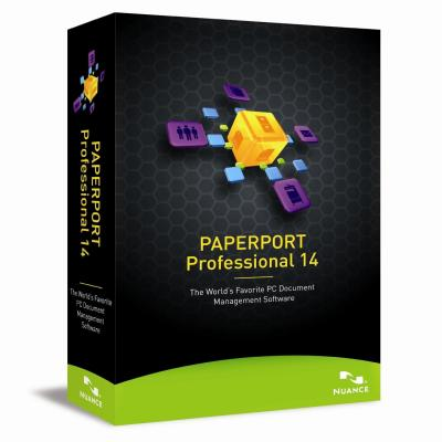 Nuance document management software: PaperPort Professional 14.0, EDU