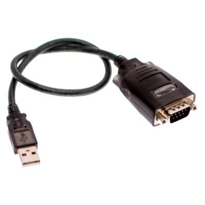 Ewent USB 1.1 naar Serieel Converter (Basic Version) Eenh. 1 stk Seriele kabel - Zwart