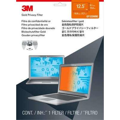 """3M Gold Privacy Filter for 31.75 cm (12.5"""") Widescreen Laptop Schermfilter - Transparant"""