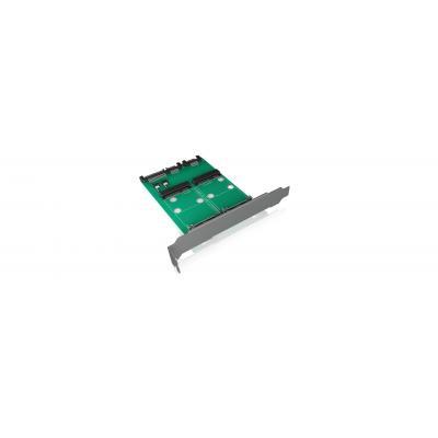 ICY BOX IB-CVB514 Interfaceadapter - Groen
