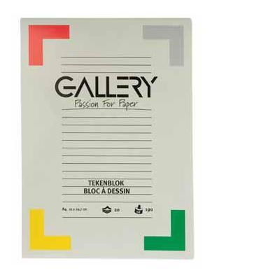 Gallery tekenpapier: TEKENBLOK 190GR 21X29.7 20BL.