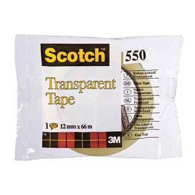 Scotch plakband: PLAKBAND 550 12MMX66M