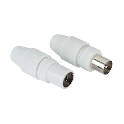 Hama coaxconnector: Antenna Male Plug / Female Jack, Coaxial, Clamp Type