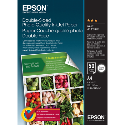 Epson Double-Sided Photo Quality Inkjet Paper - A4 - 50 Sheets Papier