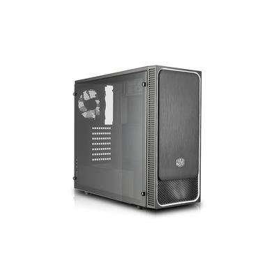Cooler Master MasterBox E500L Behuizing - Zwart, Zilver