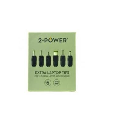 2-power : Additional Tip Pack, x6 - Zwart