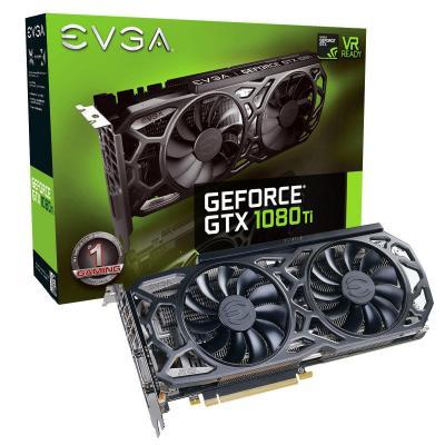Evga videokaart: GeForce GTX 1080 Ti SC Black Edition GAMING - Zwart, Grijs