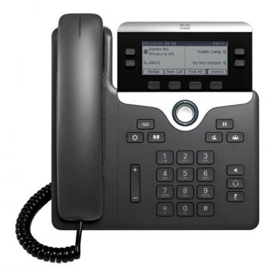 Cisco 7821 IP telefoon - Zwart, Zilver - Refurbished B-Grade