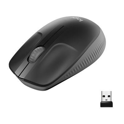 Logitech M190 Full-Size Wireless Mouse Muis - Antraciet,Zwart