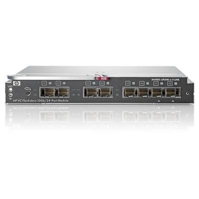 Hewlett Packard Enterprise BladeSystem Virtual Connect FlexFabric 10Gb/24-port Switch - Zwart
