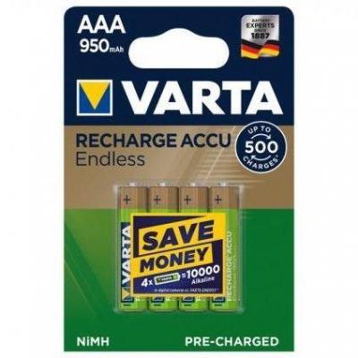 Varta Endless AAA 950mAh batterij - Goud, Groen