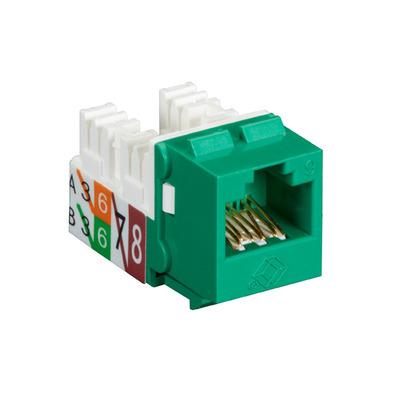 Black Box GigaTrue® 2 UTP Cat6 Keystone Jack - 110 Punchdown Type - Groen