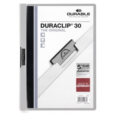 Durable Duraclip 30 Stofklepmap - Grijs, Transparant