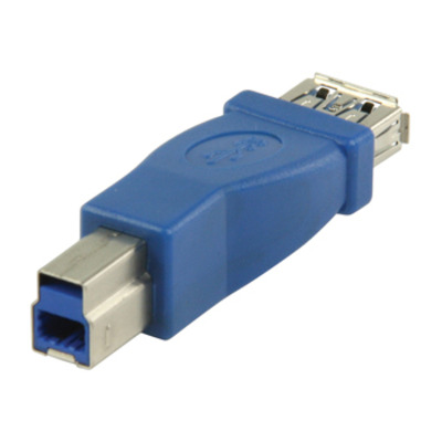 Valueline USB 3.0, USB-A female - USB-B male, Blue Kabel adapter - Blauw