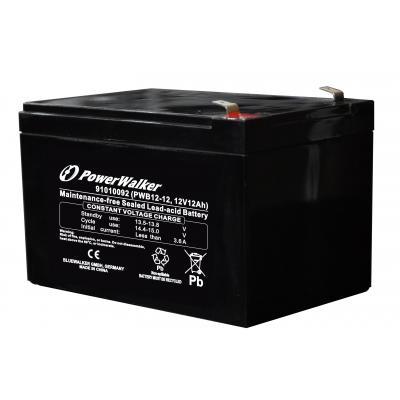 Bluewalker UPS batterij: PWB12-12 - Zwart