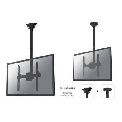"""Newstar flat panel plafond steun: TV/Monitor Ceiling Mount for 32""""-60"""" Screen, Height Adjustable - Black - Zwart"""