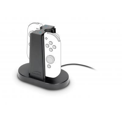 Speed-link batterij: Speedlink, QUAD Charger voor Nintendo Switch Joycon (Zwart)
