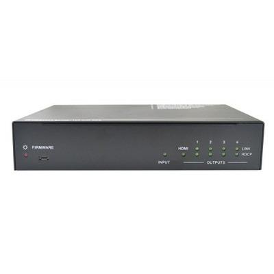 PTN-Electronics 4-voudige 4K HDBaseT splitter Video splitter - Zwart