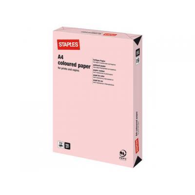 Staples papier: Papier SPLS A4 160g flamingo/pak 250v