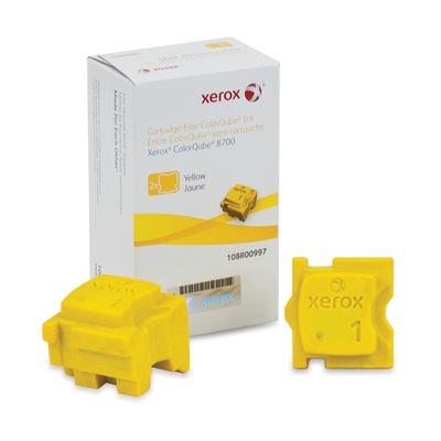 Xerox Originele ColorQube 8700/8900 Solid Ink geel(2 sticks, voor 4.200 pagina's) Inkt stick