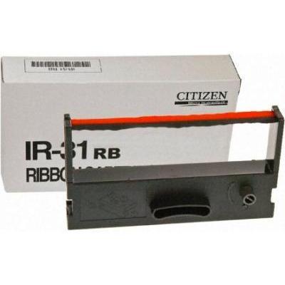 Citizen IR/31 Black Red Ribbon (CD-S500/501/503, DP-33x) Printerlint - Zwart, Rood