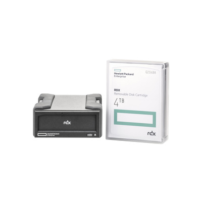 Hewlett Packard Enterprise RDX 4TB USB 3.0 External Tape drive - Zwart