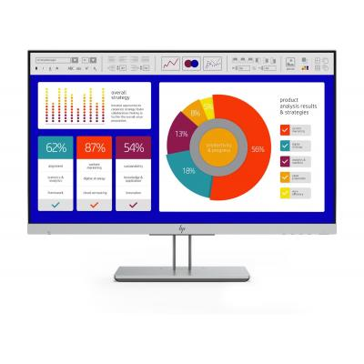 "HP EliteDisplay E243p 23,8"" Full HD IPS Monitor - Zwart, Zilver"