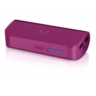 Fresh 'n rebel powerbank: Powerbank 5200 mAh, 2x USB, 135g - Rood