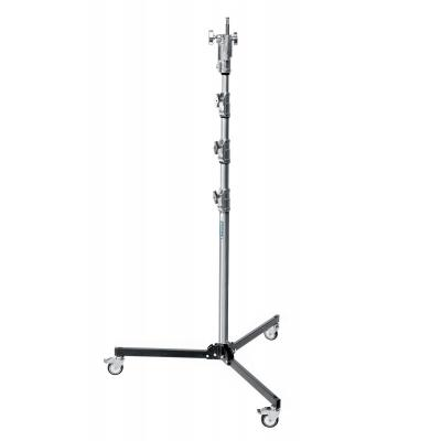 Manfrotto : 20kg Capacity, 142-340cm, 3 Rollers, 10.7kg, Silver - Zilver