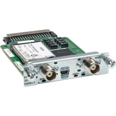 Cisco UMTS: 3.7G HSPA Wireless WAN EHWIC supporting GPRS/EDGE/UMTS/HSDPA/HSUPA/HSPA, 4.5 W - Multi kleuren