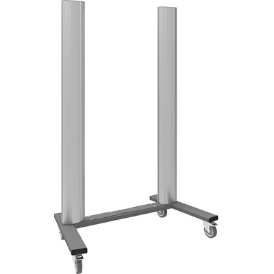 """SmartMetals Mobiel statief (open frame) voor VideoWall 2x2, 46-60"""" TV standaard - Aluminium, Grijs"""