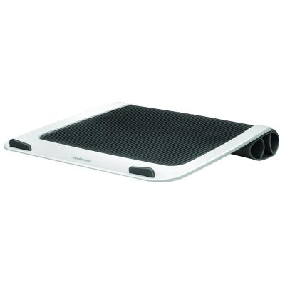Fellowes notebook koelingskussen: I-Spire Series laptopstandaard voor op schoot - Zwart, Wit